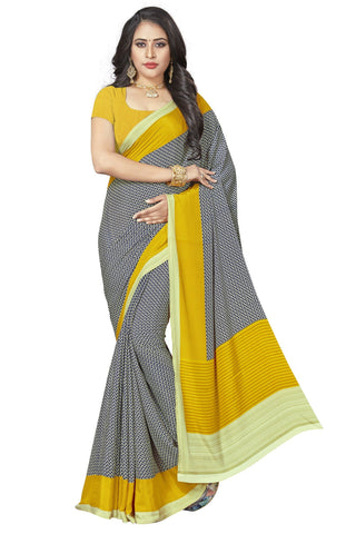Mustard Color Crepe Saree - VSVDSUNY721B