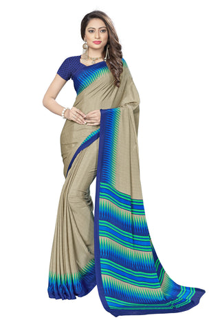 Blue Color Crepe Saree - VSVDSUNY722B