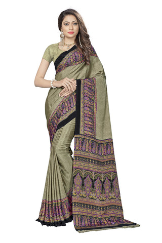 Beige Color Crepe Saree - VSVDSUNY724B