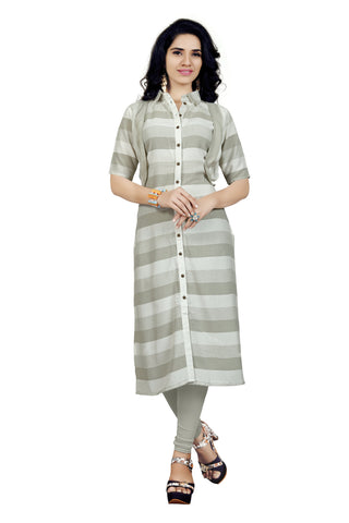 Multi Color Us Polo Rayon Stitched kurti - VT416A