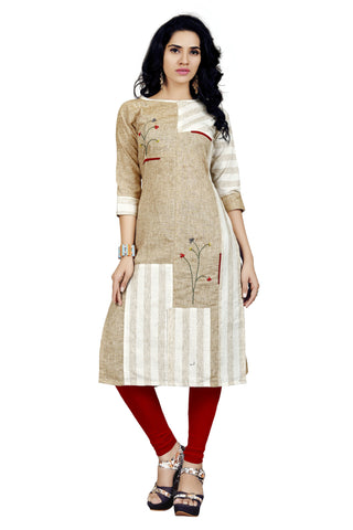 Multi Color Cotton Checks and Rayon Stitched kurti - VT420A