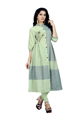 Multi Color Muslin Cotton Stitched kurti - VT421A