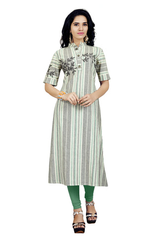 Multi Color Handloom Cotton Stitched kurti - VT422A