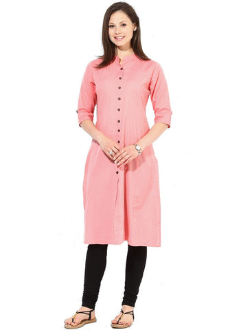 Pech Color Heavy Rayon Stitched Kurti - VT95A