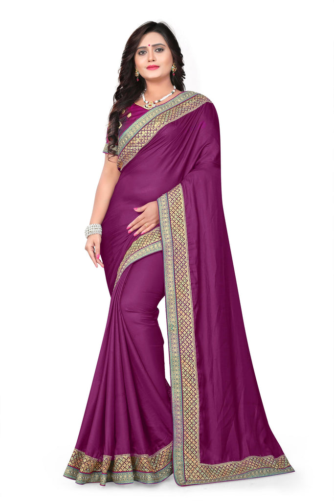 Buy Wine Color Barfi Art Silk Saree