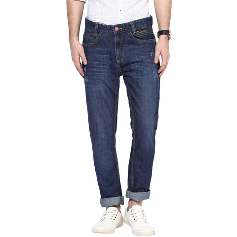 Blue Color Organic Cotton Men Jeans - Vin-Blue