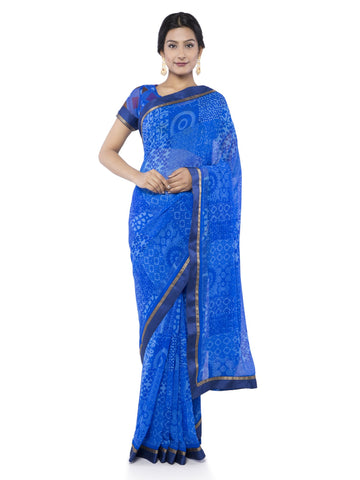 Blue  Color Georgette Saree - Vipul-38048