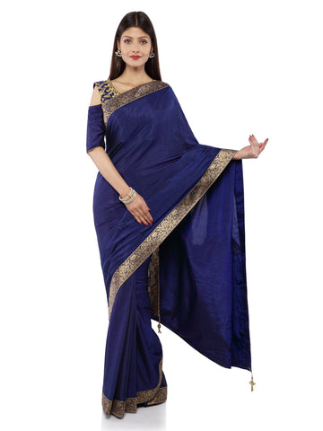 Blue Color Art Silk Saree - Vipul-38152