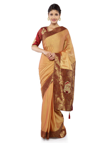 Beige Color Art Silk Saree - Vipul-38153