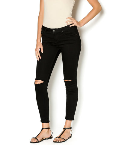 Black Color Denim Jeans - W-T9BLK-28