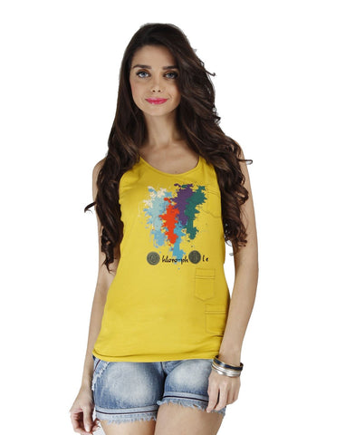 Yellow Color Organic Cotton Women Top - WCV-SunshineYellow
