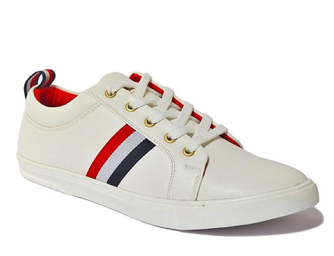 White Color Cancas Men Shoe - WHITE-Dok-6