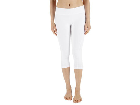 White Color Supplex Lycra Capri - WHITE2-CP