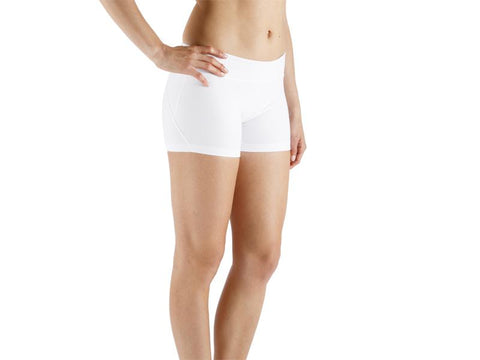 White Color Supplex Lycra Women Short  - WHITE1-SH