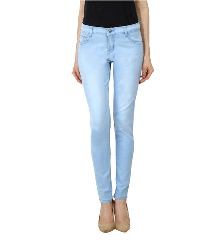 Grey Color Denim Women Jeans - WJ-4BUTTN-GREY
