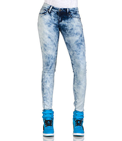 Blue Color Denim Women Jeans - WJ-BADALWASH-1