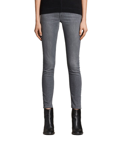 Grey Color Denim Women Jeans - WJ-GREY-28