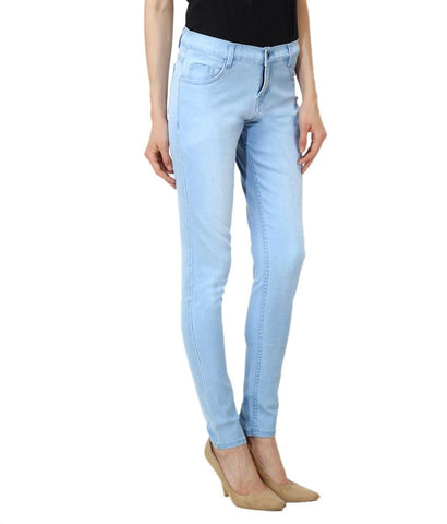 Blue Color Denim Women Jeans - WJ-LB-DB-WS-LB-7
