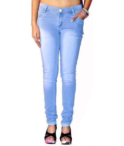 LightBlue Color Denim Women Jeans - WJ-MOKEY-LBLUE-28