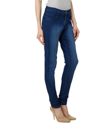 DarkBlue Color Denim Women Jeans - WJ-MOKEY-MDBLUE-28