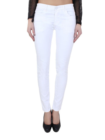 White Color Denim Jeans - WJ-WHT-28