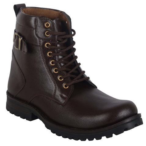 BROOKE Brown Color Synthetic Men BOOT - WK-116-BROWN-BOOT