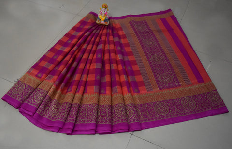Pink Color Khadi Silk Saree - WM-1796-C