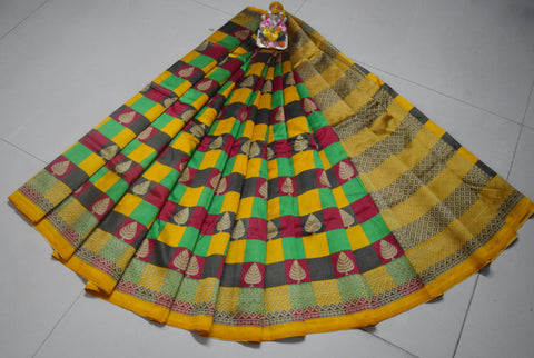 Mustard Color Silk Saree - WM-1801-D