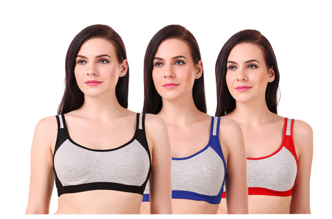 Multi Color Hosery Bra - WO-3040spbrprb