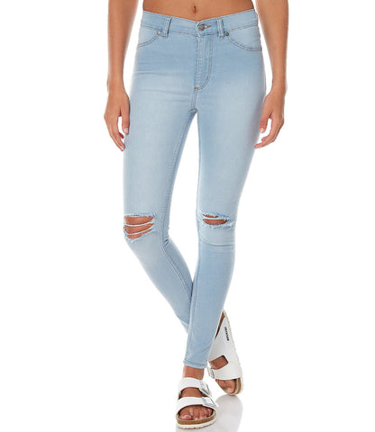 Blue Color Denim Women Jeans - WO-T9LB