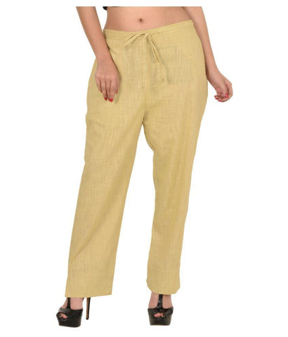 Begie Color Linen Womens Pant - WO-pants-BGE