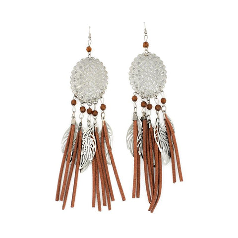 Brown Color Alloy Ear Rings - WOCHER118A