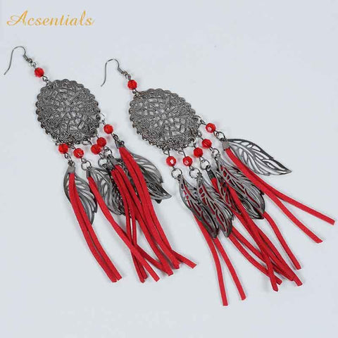 Red Color Alloy Ear Rings - WOCHER118b-Red