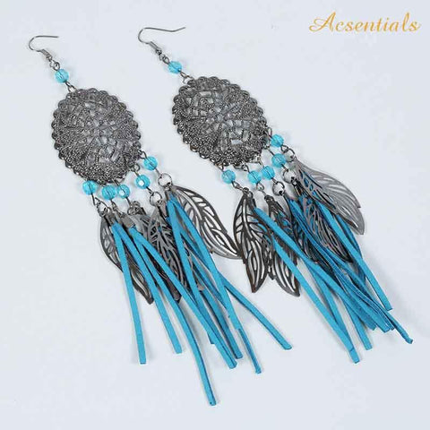 Blue Color Alloy Ear Rings - WOCHER118c-blue