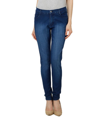 DarkBlue Color Denim Women Jeans - WOMEN-MDB