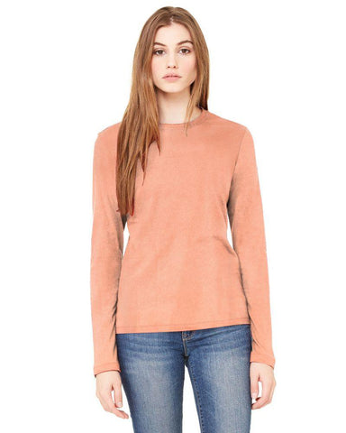 Peach Color Knitting Stitched Top - WOMENTOP31