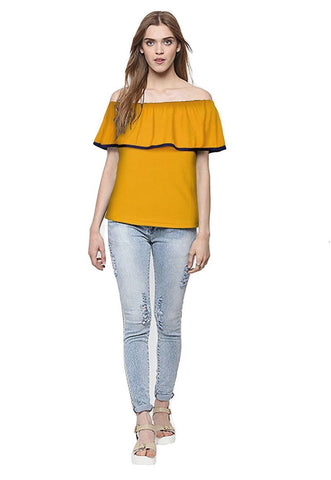Yellow Color Imported Stitched Top - WOMENTOP40
