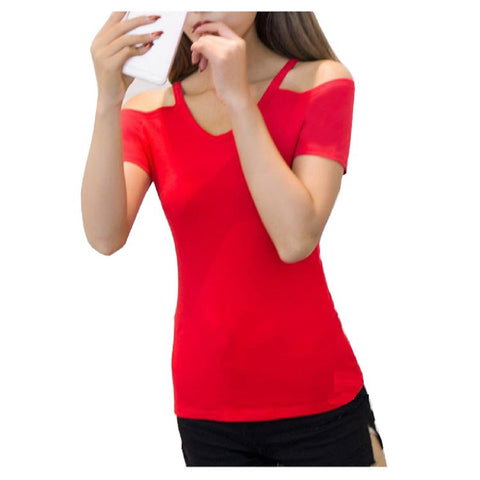 Red Color Knitting Top - WOMENTOP91