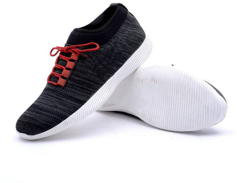 Black Color Mesh Men Sports Shoe - WS-1002Black