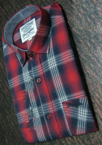 Red And Black Color Pure Cotton Men's Shirt - WS-1