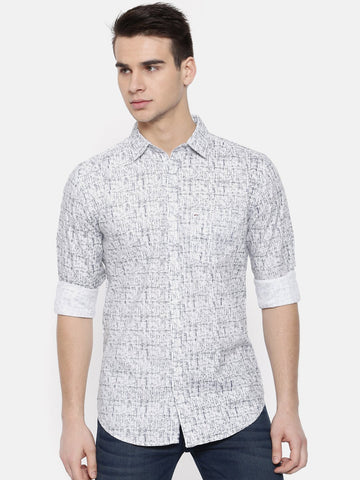 White Color Cotton Mens Shirt - WW377A