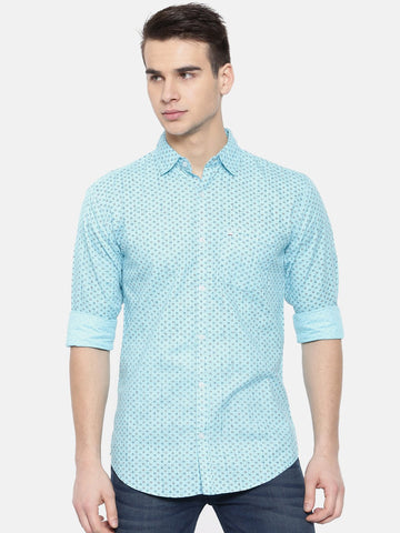 Light Blue Color Cotton Mens Shirt - WW378B