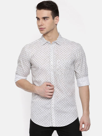 Grey Color Cotton Mens Shirt - WW382C