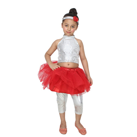 Multi Color Cotton Blend Fancy Costume Dress  - Western Girl-1