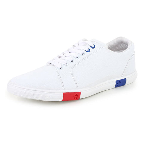 White Color Synthetic Leather Men Casual Shoe - WhiteFull