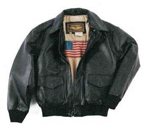 FRANCHISE CLUB Black Color Sheep Nappa Leather Mens Jacket - WingsBomber