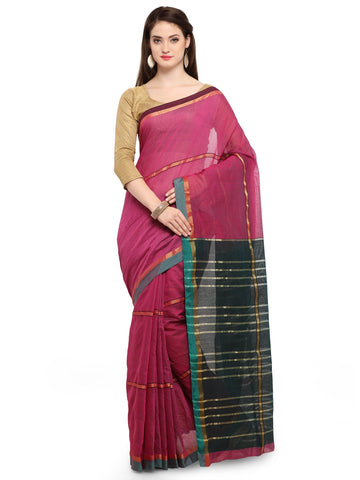 Magenta Color Cotton Silk Saree  - YNF-28394