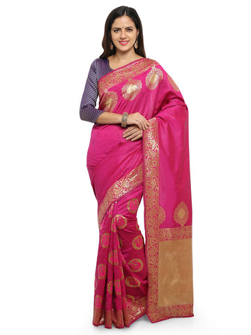 Pink Color Cotton Silk Saree  - YNF-28459