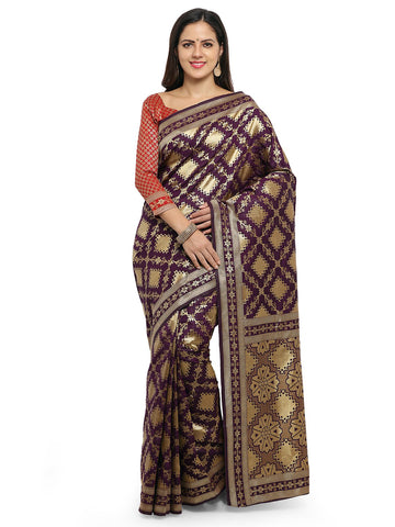 Purple Color Cotton Silk Saree  - YNF-28463