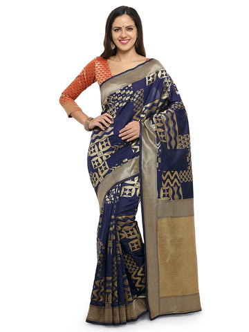 Blue Color Cotton Silk Saree  - YNF-28468